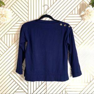 Zara | Girl's Knit Sweater w/ Button Shoulder
